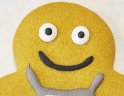 face of our new gingerbread person